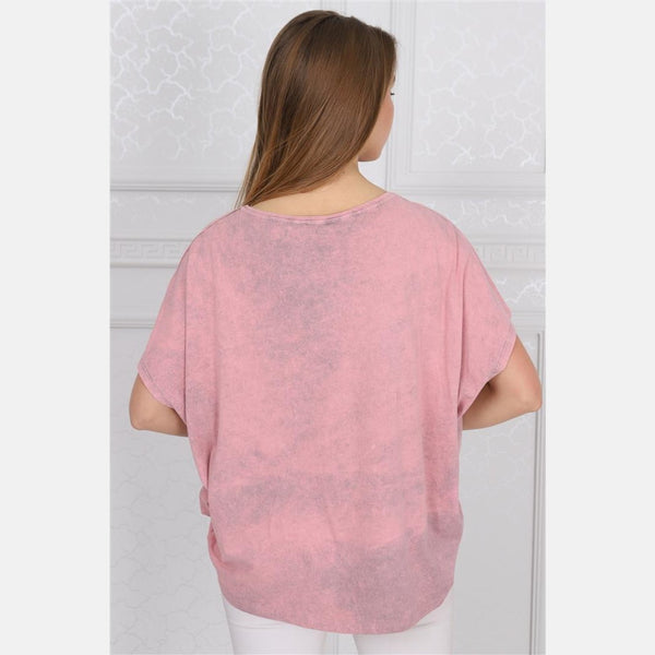 Pink Sparkle Star Cotton Women Balloon T-Shirt - S-Ponder Shop