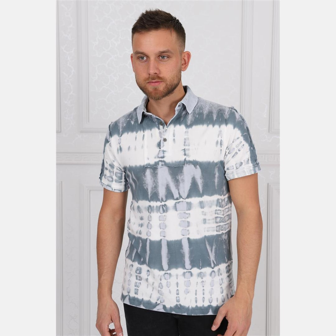 Thick Stripped Coloured Stone Washed Cotton Men Polo T-Shirt Tee Top S-Ponder