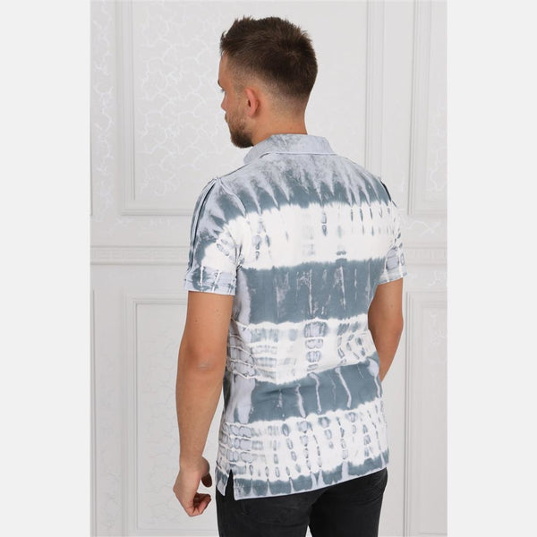 Thick Stripped Coloured Stone Washed Cotton Men Polo T-Shirt - S-Ponder Shop