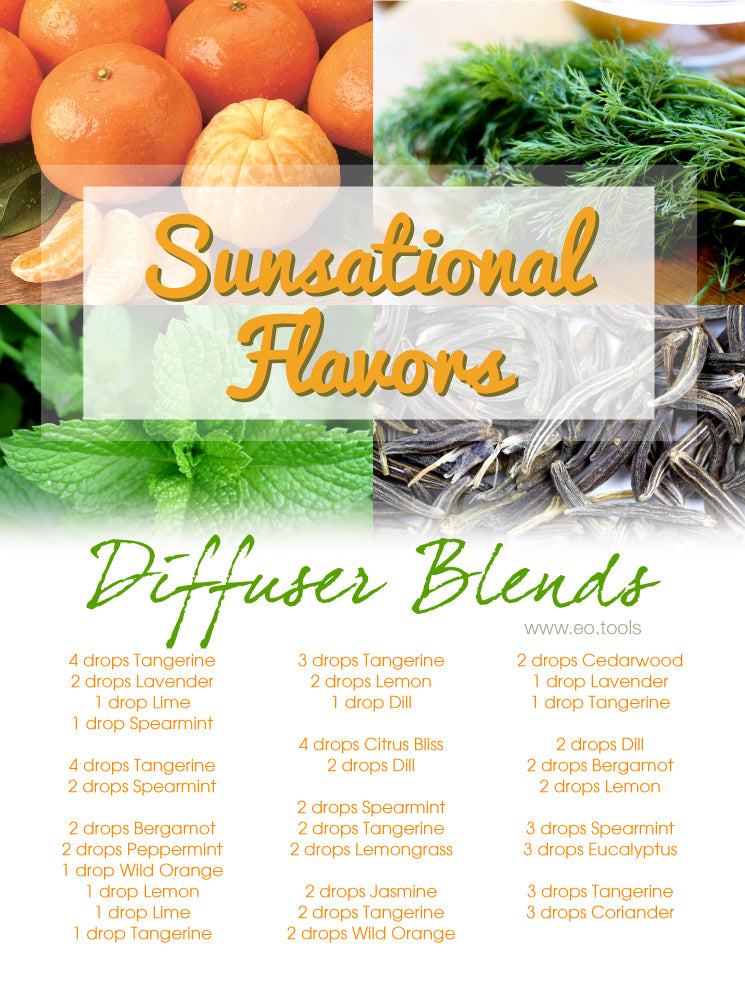 Sunsational Flavors Diffuser Blends