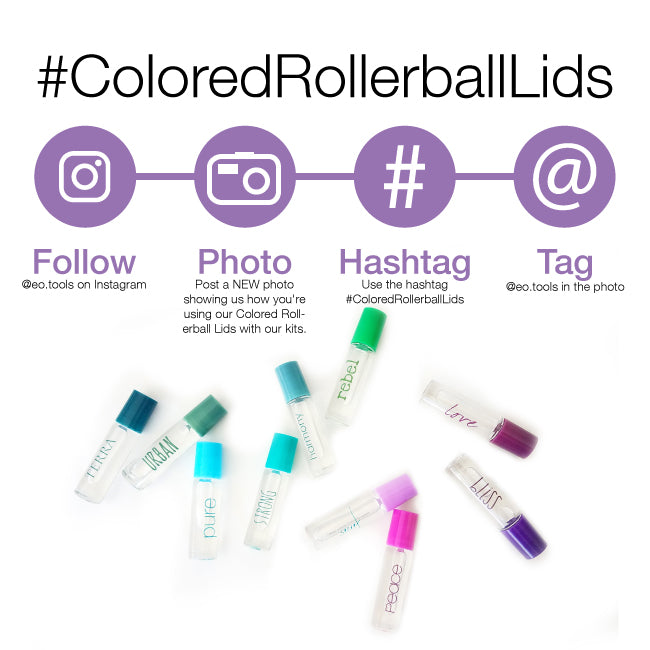 Colored Rollerball Lids Instragram Contest