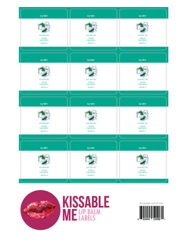 Icy Mint Lip Balm Label Sheet