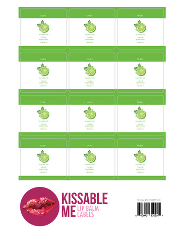 Mojito Lip Balm Label Sheet