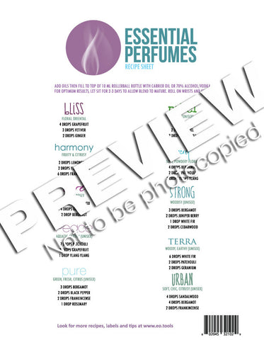 Essential Perfumes Recipes