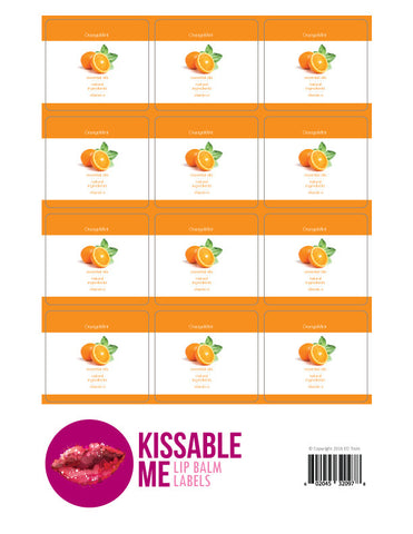 OrangeMint Lip Balm Label Sheet