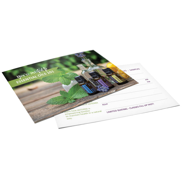 doTERRA Essential Oil 101 Invitations - US, AU, CA, EU