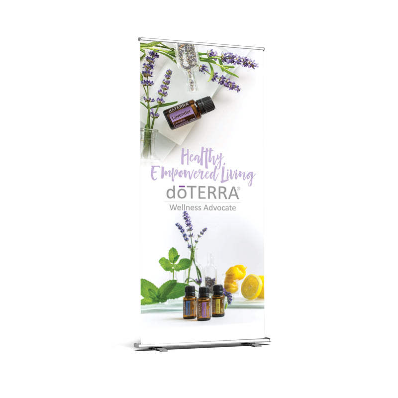doTERRA Retractable Premium Banner White Artwork - US, AU, CA, EU