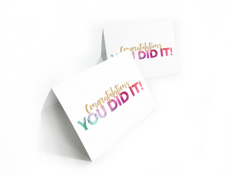 You Did It Note Card