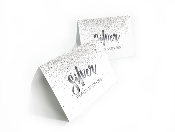 Silver Rank Note Card