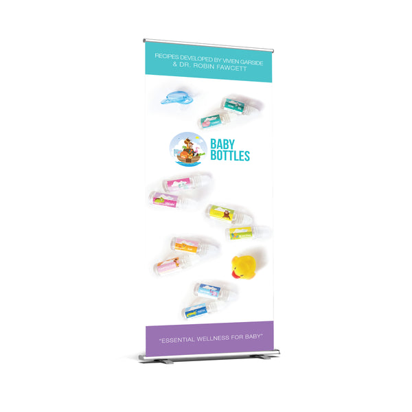 Baby Bottles Retractable Premium Banner Artwork