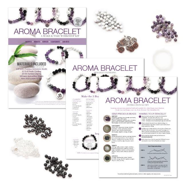Aroma Bracelet Make & Take Workshop Kit - Amethyst