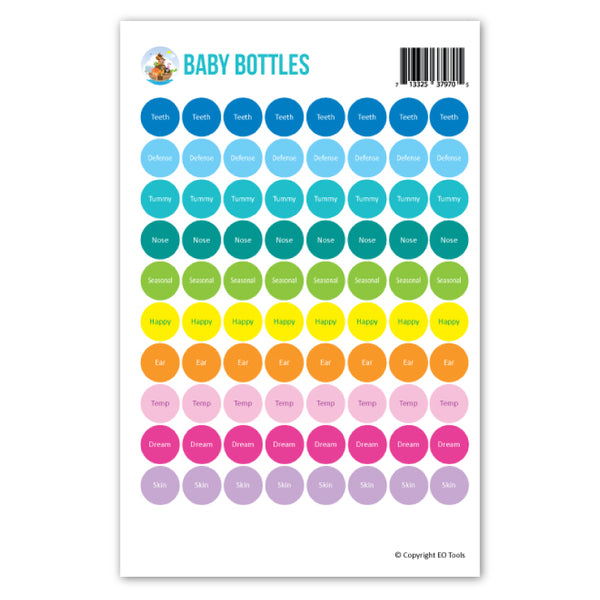 Baby Bottles Lid Stickers