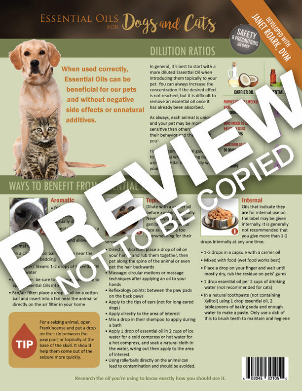Essential Oils for Dogs & Cats Tear Sheet Pad