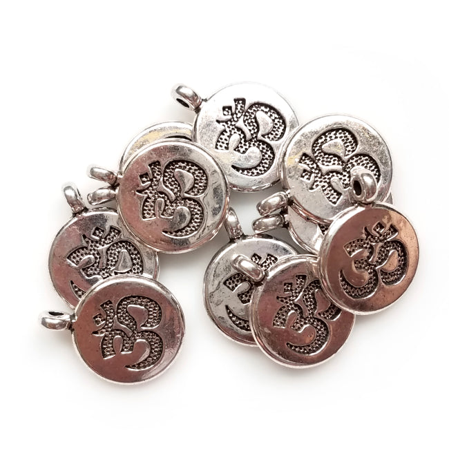Om Alloy Charms (Qty 10)