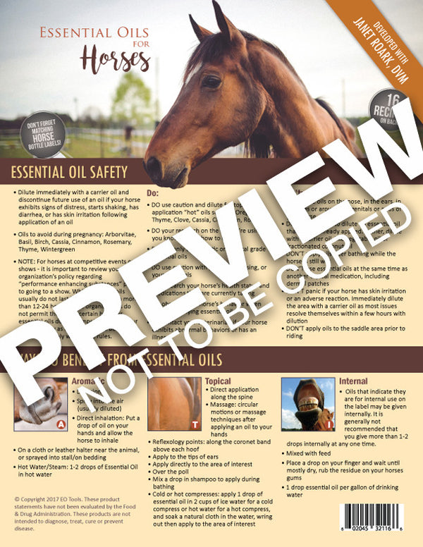 Essential Oils for Horses Recipes Tear Sheet Pad