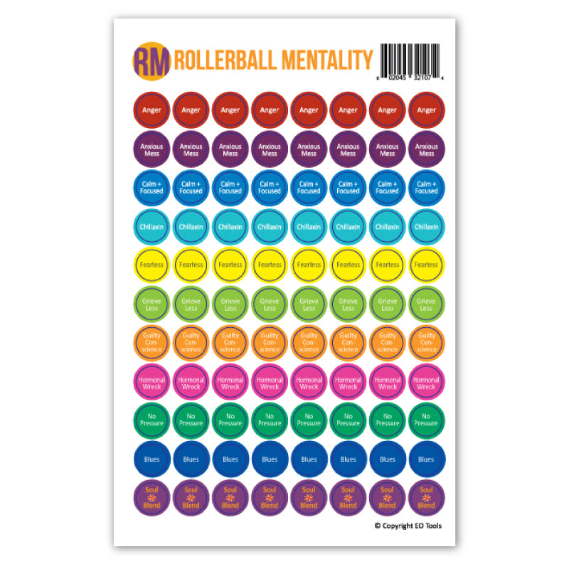 Rollerball Mentality Lid Stickers