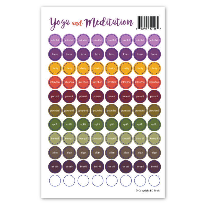 Yoga & Meditation Lid Stickers