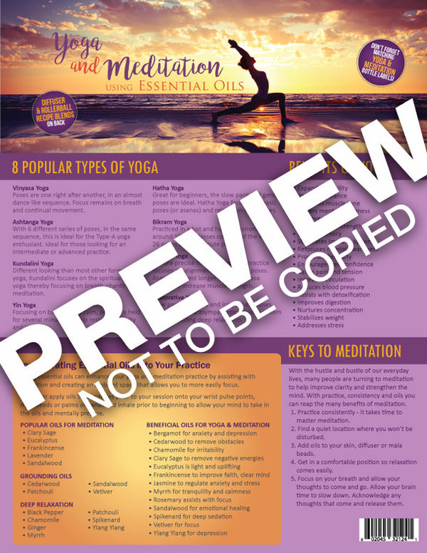 Yoga & Meditation Using Essential Oils Tear Sheet Pad