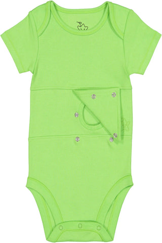 Apple Green Feeding Tube Onesie
