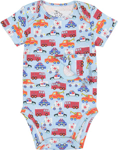 Vehicle Print Feeding Tube Onesie