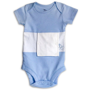 Sky Blue Feeding Tube Onesie