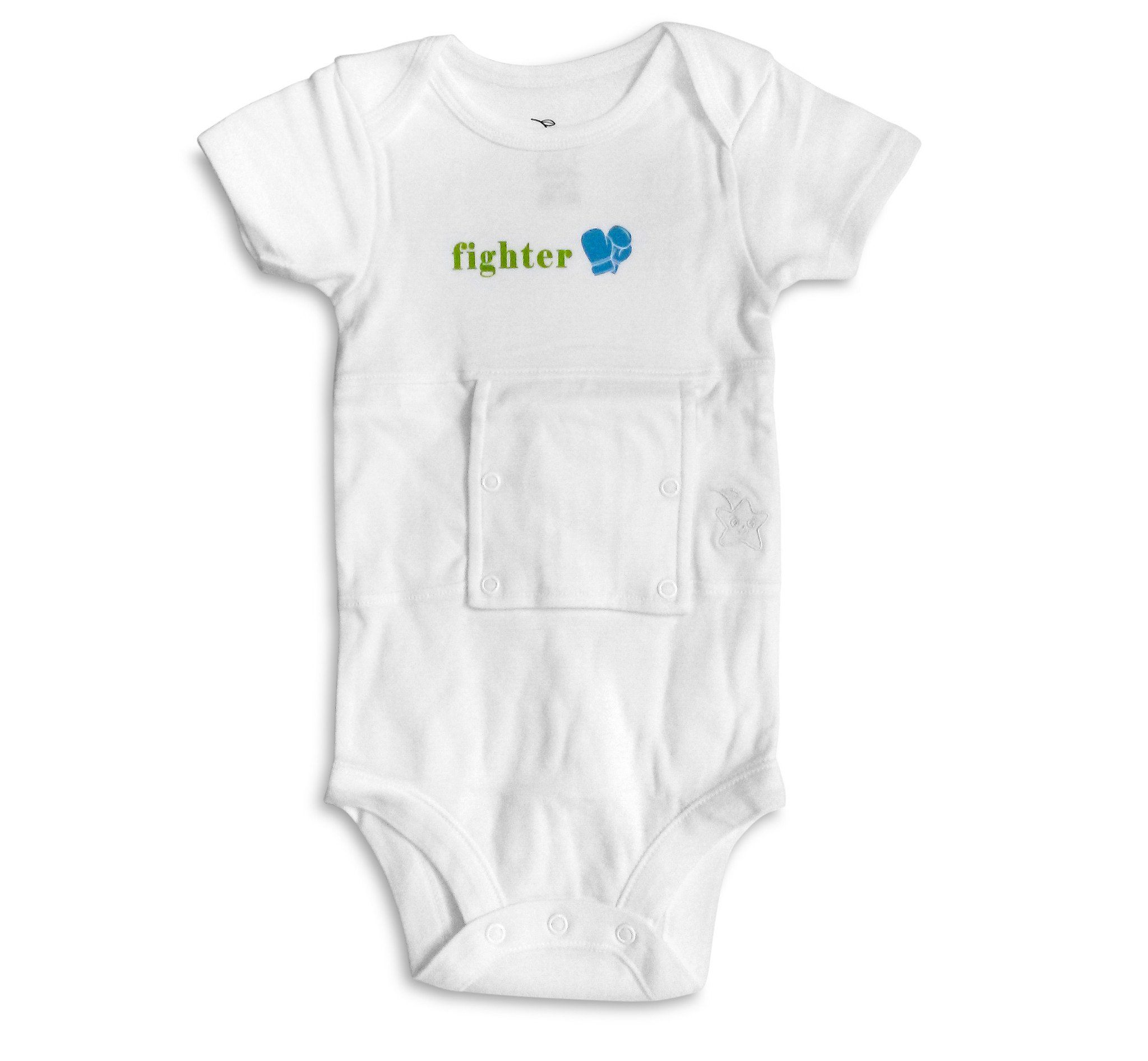 Fighter Feeding Tube Onesie