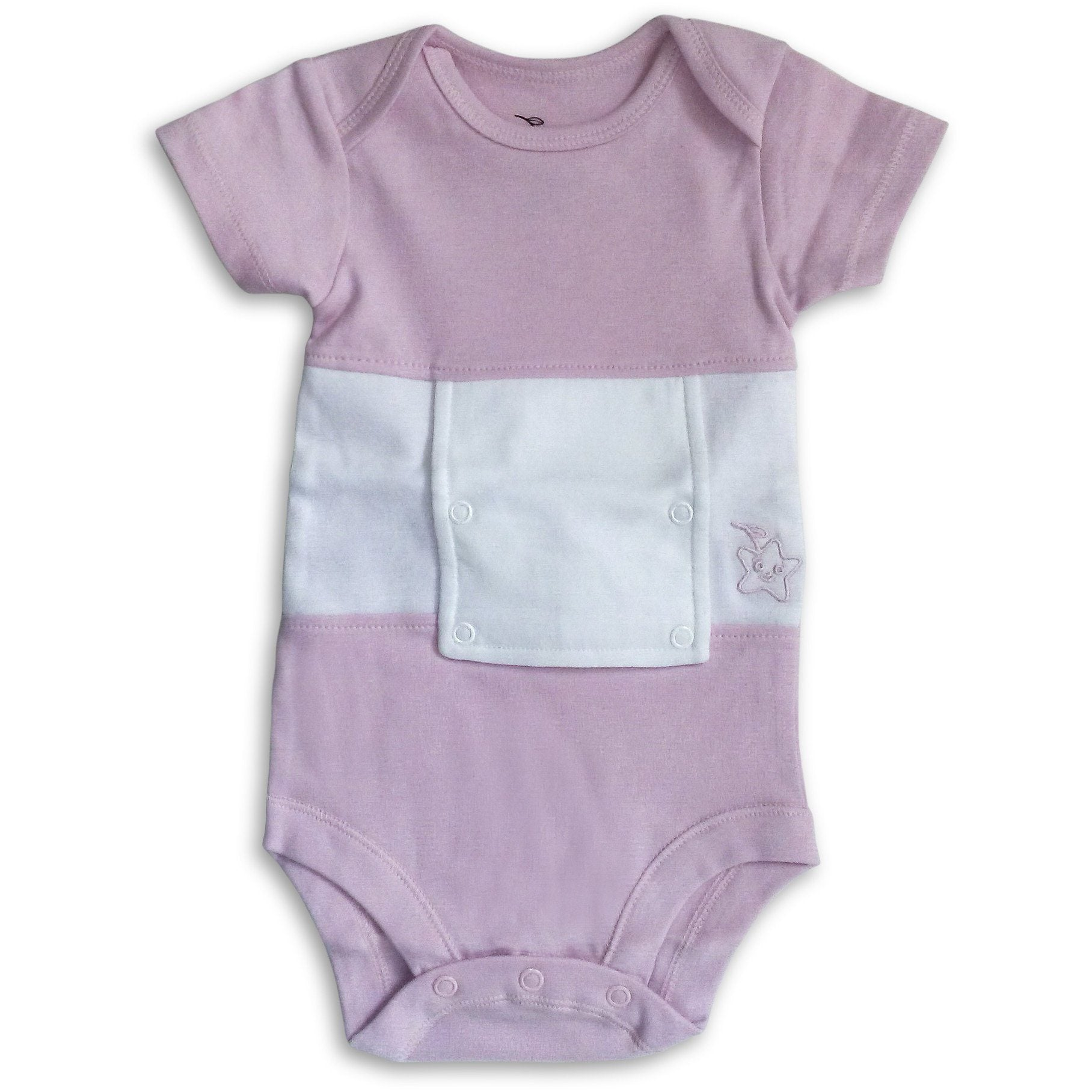 Pretty Pink Feeding Tube Onesie
