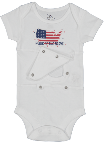 Home Of The Brave Feeding Tube Onesie