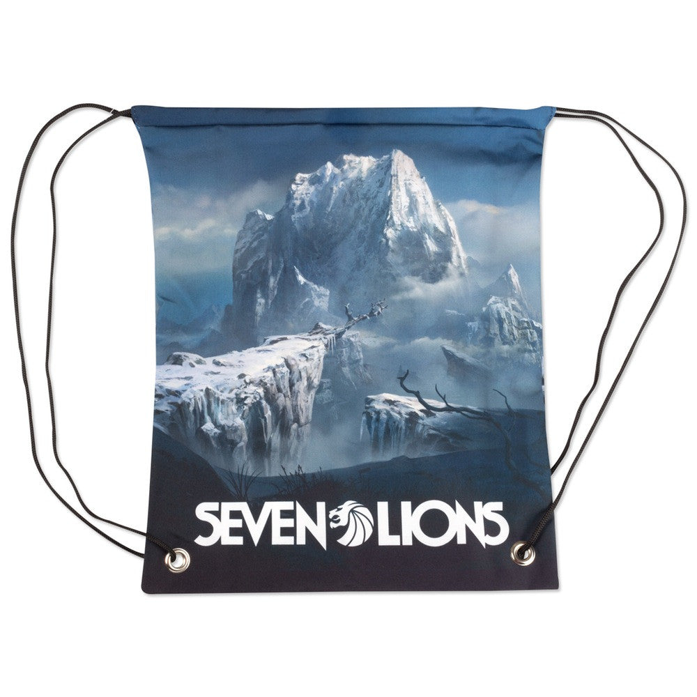 Seven Lions - Throes Of Winter Drawstring Backpack