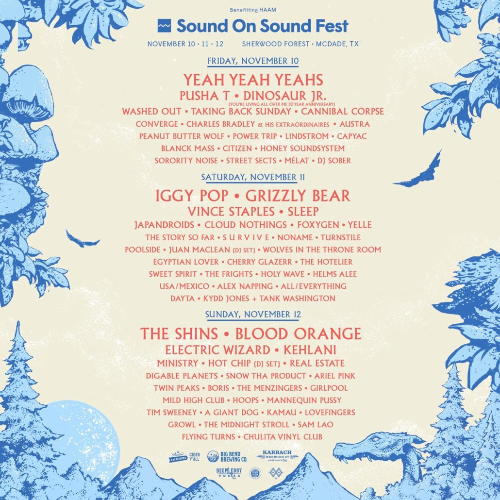 Sound On Sound Fest Daily Lineups + Single Day Passes