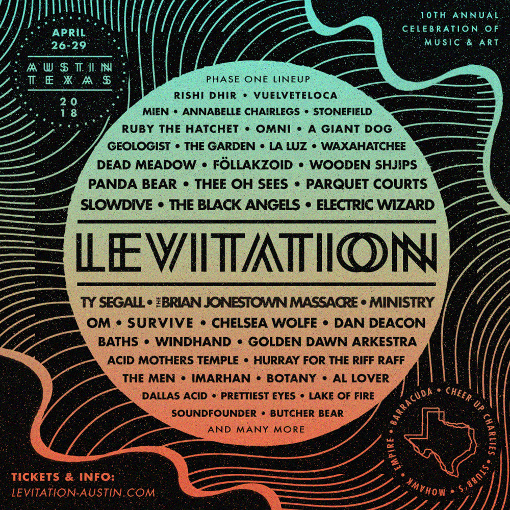 LEVITATION 2018 LINEUP ANNOUNCEMENT!