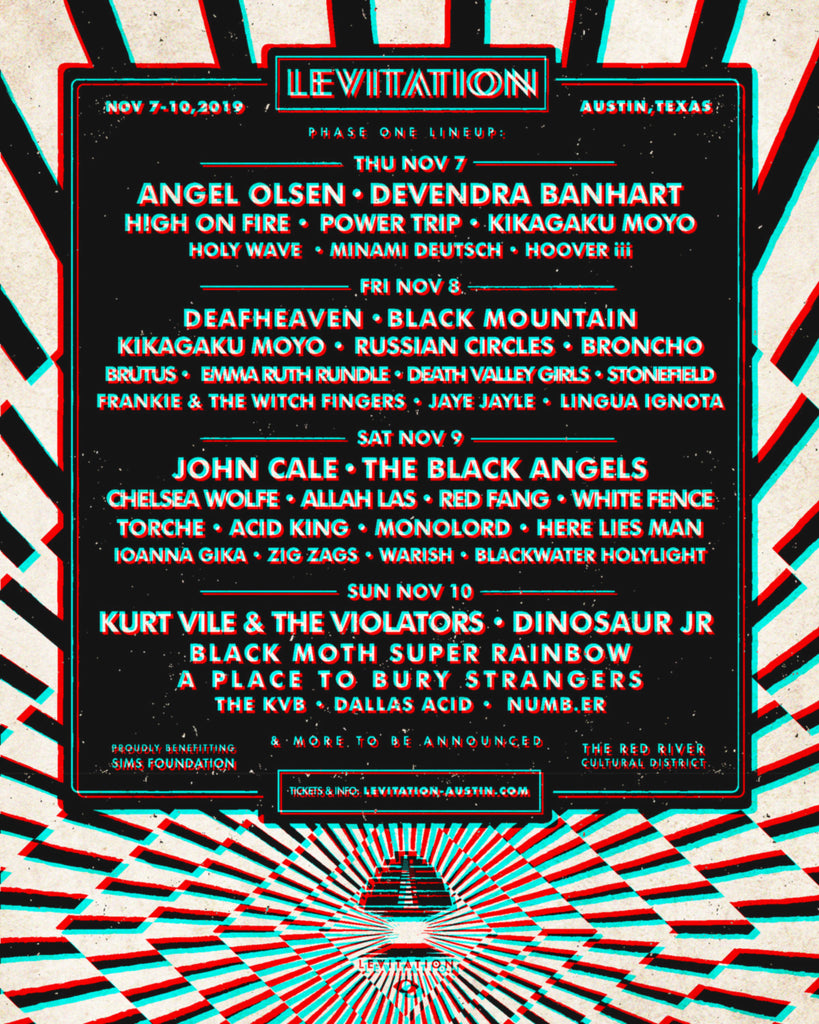 LEVITATION 2019 – PHASE ONE LINEUP
