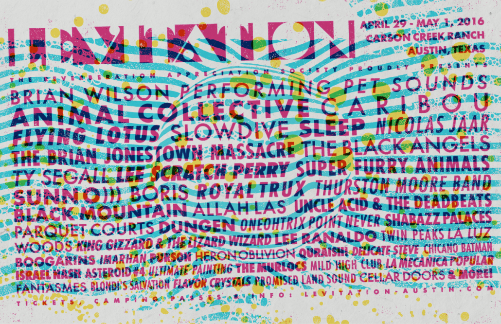 LEVITATION : 2016 LINEUP, TICKETS ON SALE
