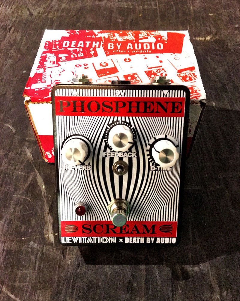 Phosphene Scream Delay + Reverb Pedal