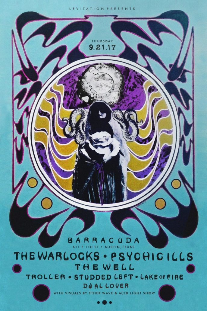 AUSTIN: SEPT 21 – PSYCHIC ILLS, THE WARLOCKS, THE WELL & MORE