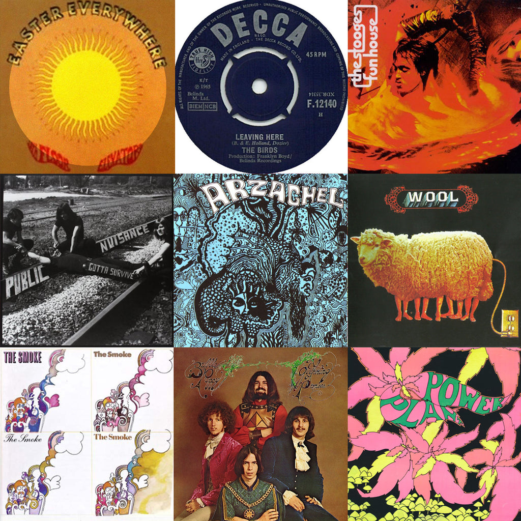 3x3 grid of record cover images