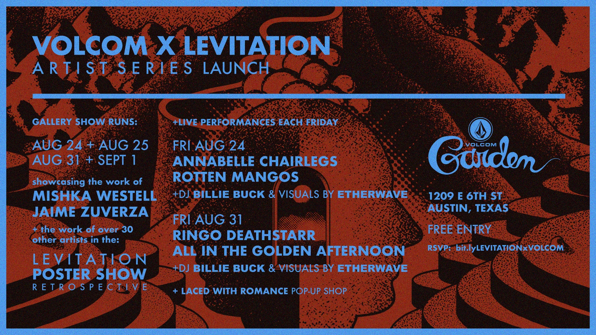 VOLCOM x LEVITATION – artist series launch
