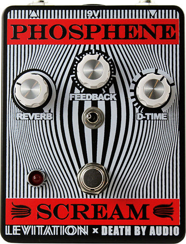 Death By Audio - PHOSPHENE SCREAM Delay + Reverb Pedal