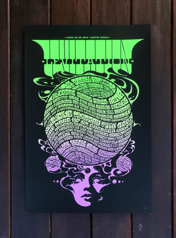 Levitation 2018 Commemorative Poster by Robin Gnista - VARIANT