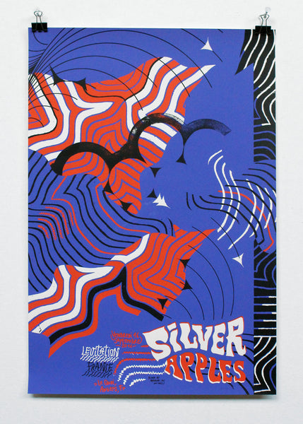 SILVER APPLES - POSTER by ARRACHE-TOI-UN-OIEL