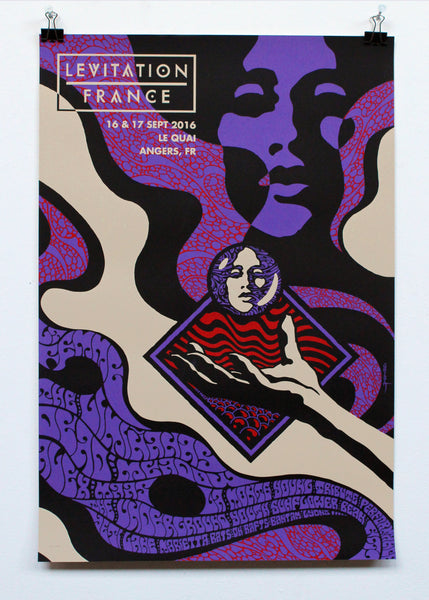 LEVITATION FRANCE 2016 - POSTER SET by ROBIN GNISTA