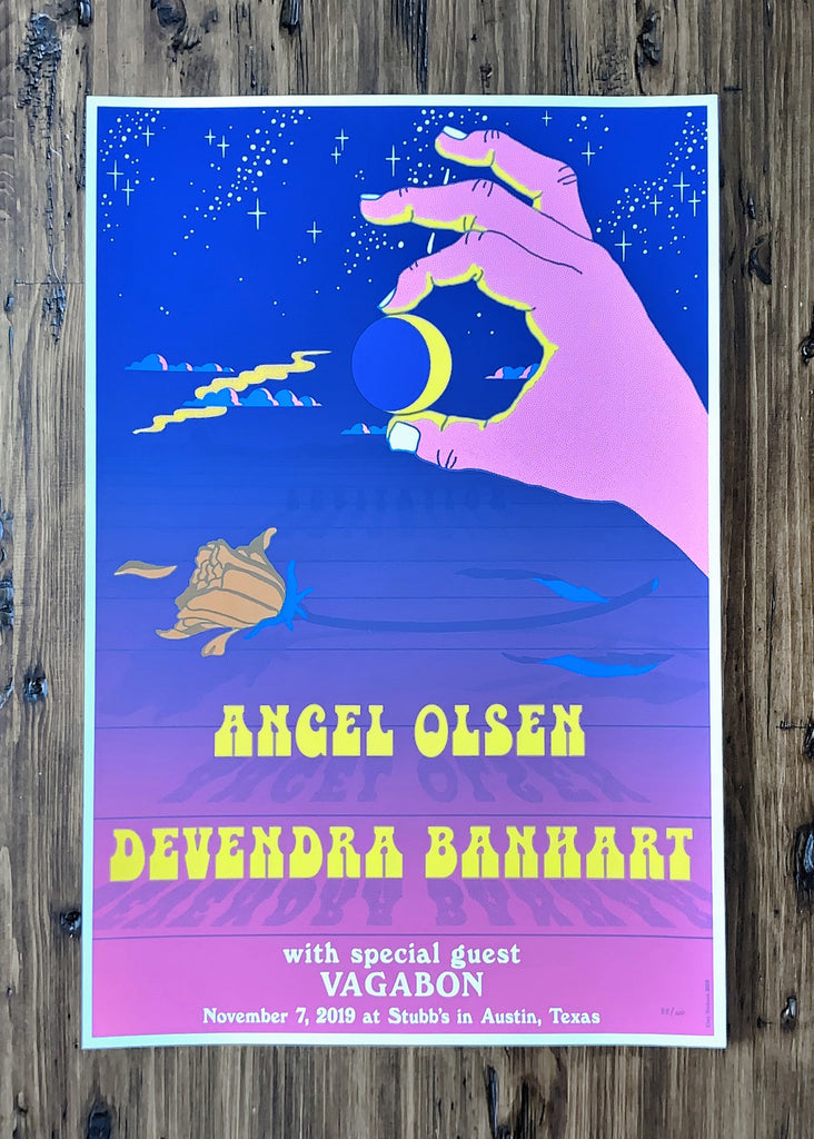 Angel Olsen, Devendra Banhart and Vagabon by Clay Hickson - Night Variant