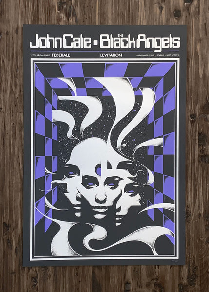 John Cale, The Black Angels and Federale by Robin Gnista - Purple Variant