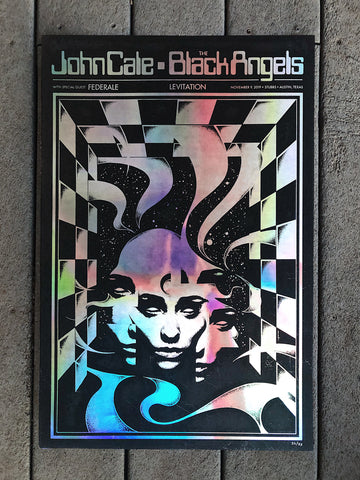 John Cale, The Black Angels and Federale by Robin Gnista - Foil Variant