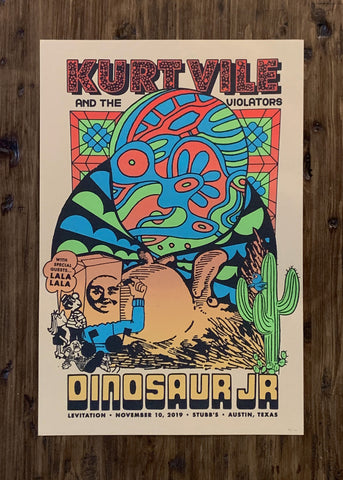 Kurt Vile & The Violators, Dinosaur Jr by D Norsen - Kraft Variant