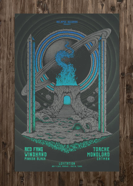 Red Fang, Windhand, Torche, Monolorde and more by Kuba Sokolski - Blue Variant