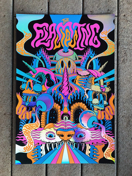 Flaming Lips Foil by Jason Abraham Smith