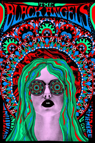 THE BLACK ANGELS - POSTER by Nate Duval