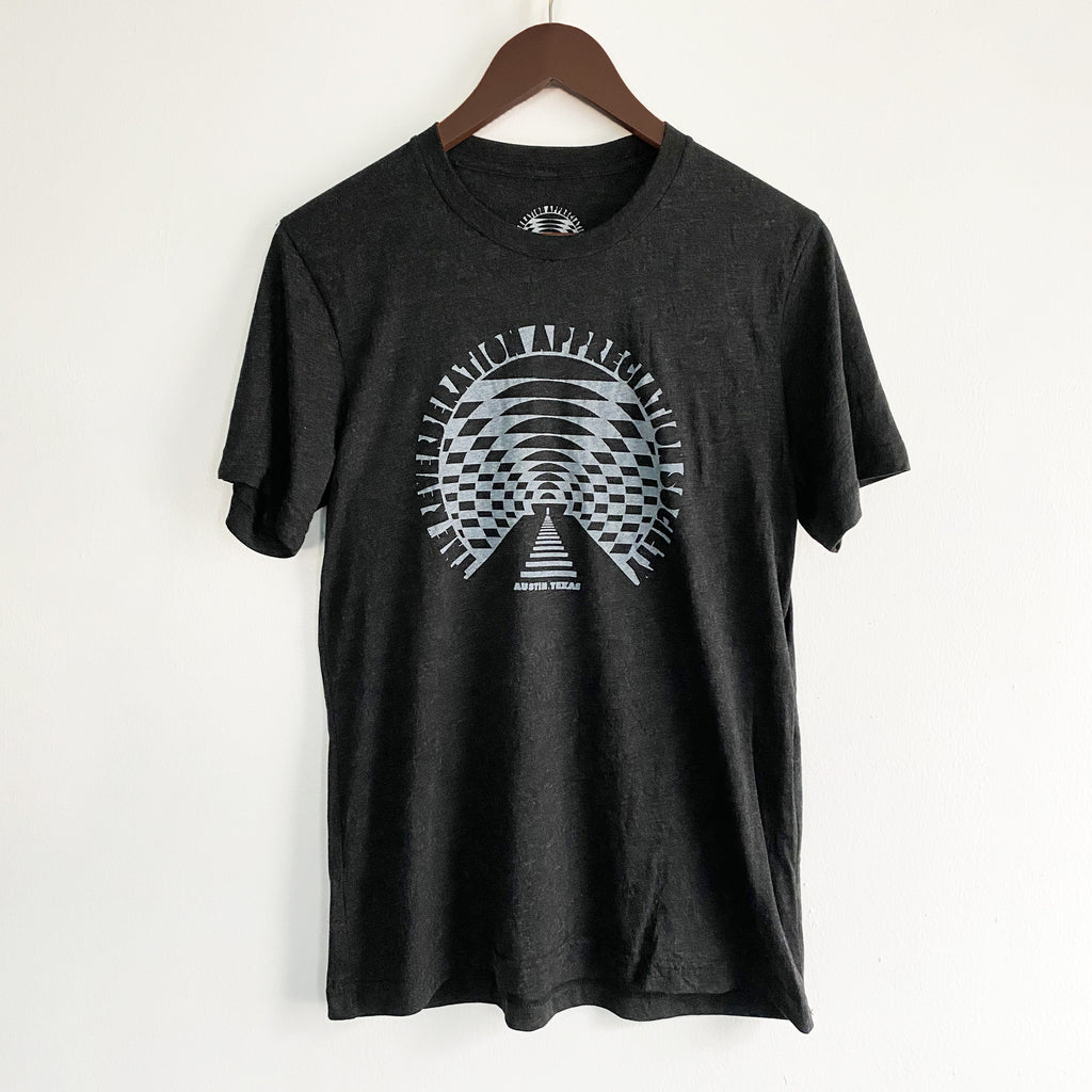 RVRB Grey on Black Tee