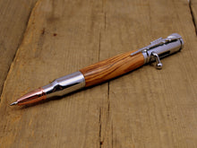Certified Bethlehem Olivewood Bolt-Action Pen with Chrome Fittings - Whidden's Woodshop